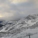 Lo Zoncolan si tinge di bianco, prime nevicate sulle cime