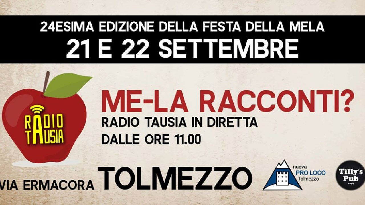 Radio Tausia alla Festa Della Mela 21 e 22 settembre