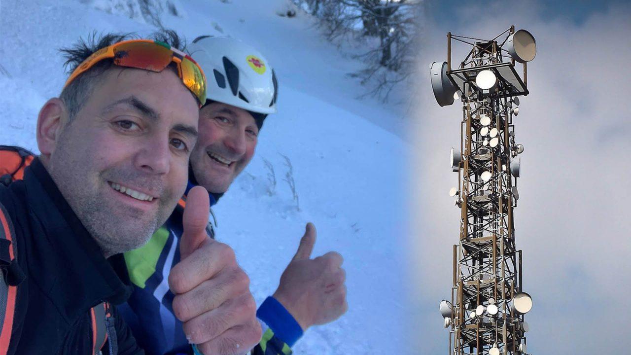 Oggi 13 Dicembre, i Tecnici della S.E.C.A.B. di Paluzza hanno rispristinato la linea elettrica che fornisce corrente al ripetitore posizionato sul m.te Tenchia.