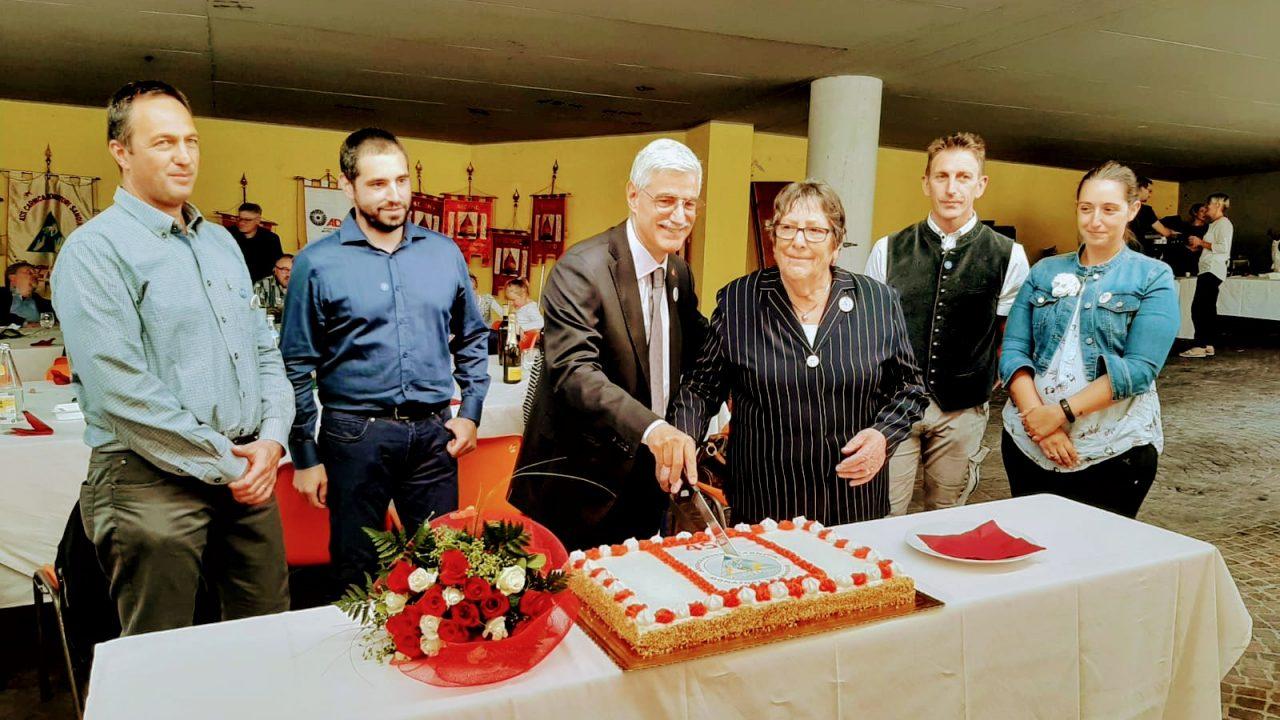 I vari presidenti festeggiano i 45 anni di Fondazione dell'ACDS